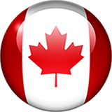 Canadian Flag Icon Orb